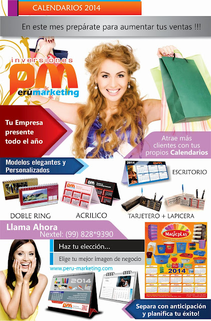 Calendarios 2014 en Peru Marketing