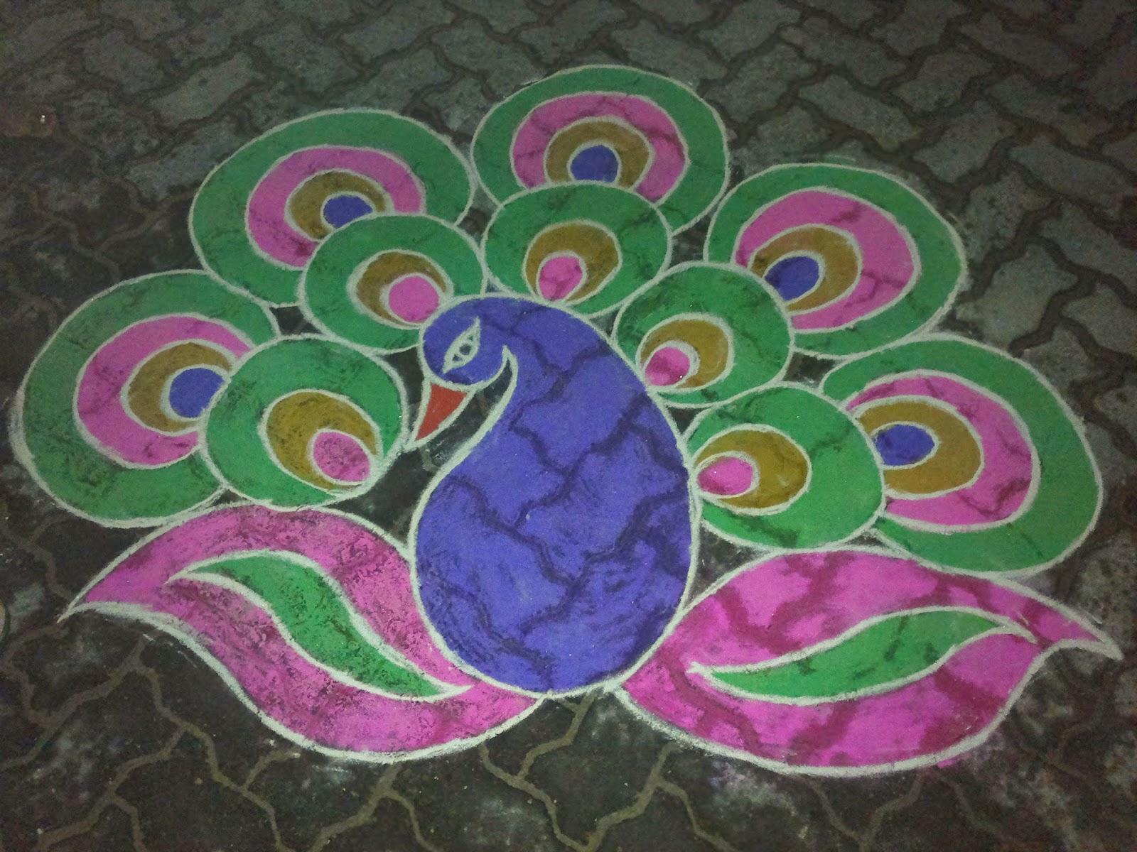 Peacock images for rangoli