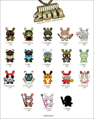 Kidrobot Dunny Series 2011 Official Checklist with Ratios