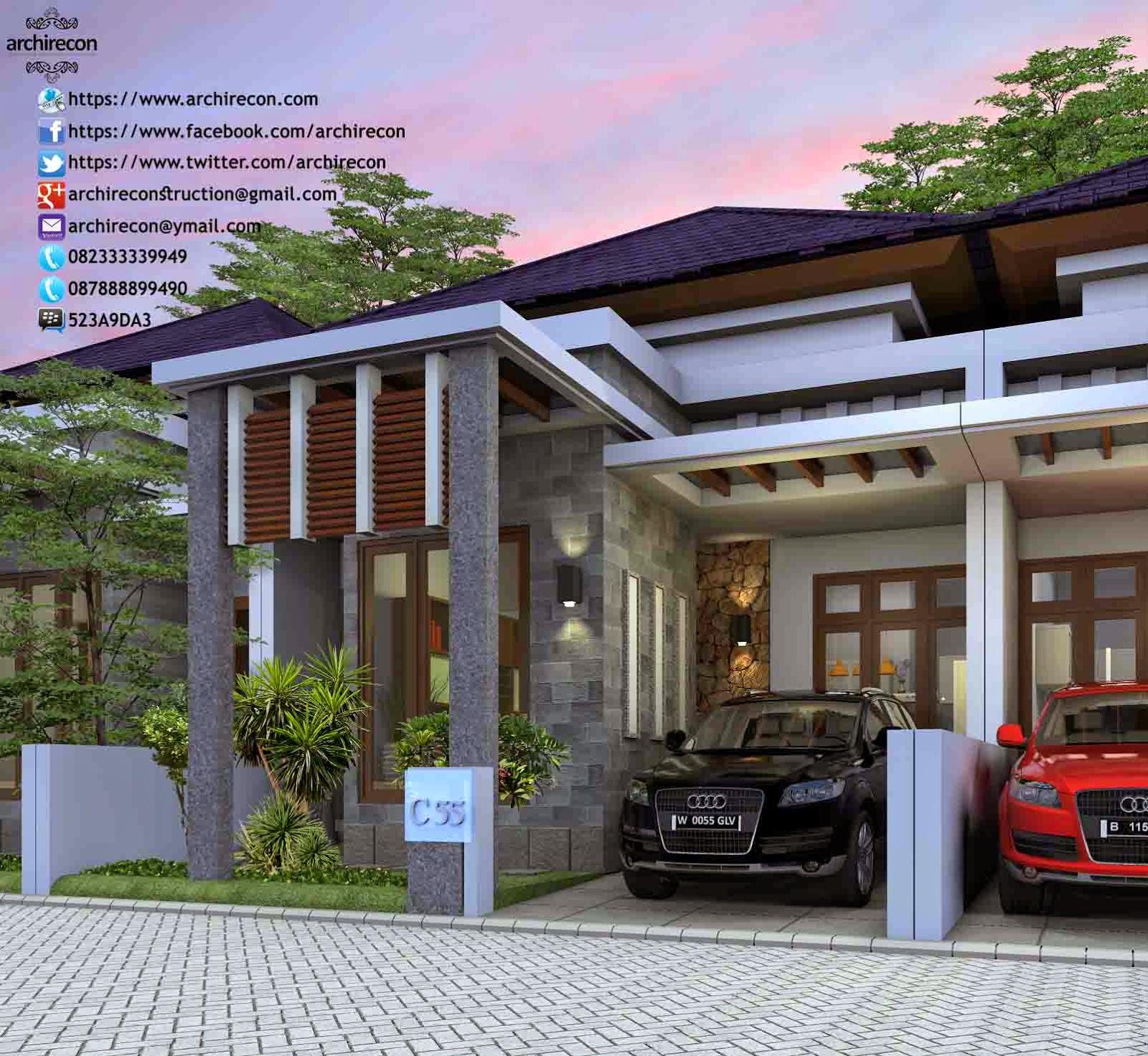 Hasil Jasa Desain Rumah Minimalis - Perumahan Green Land Villa - View Type 55