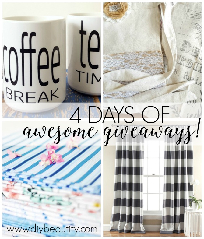 I'm celebrating my blogiversary with 4 days of giveaways! Up first is an awesome pair of sturdy coffee and tea mugs! Enter at diybeautify!