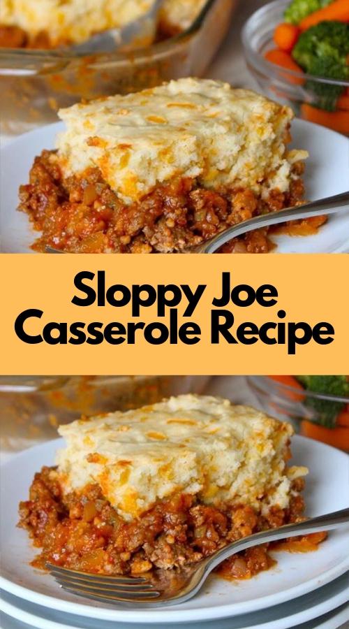 Sloppy Joe Casserole Recipe #dinner #weightwatchers #casserole #slowcooker