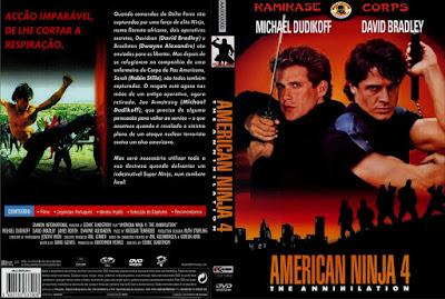 Filme Guerreiro Americano 4 - A Aniquilação (American Ninja 4 The Annihilation) DVD Capa