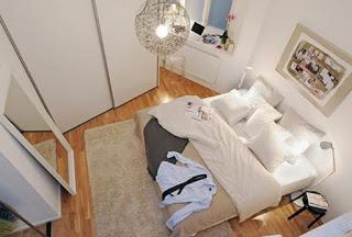 kamar tidur kecil tapi rapi