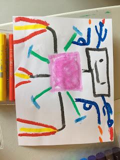 children doing art