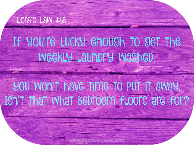 Laundry Facebook Quotes about Life: Lora's Law #5