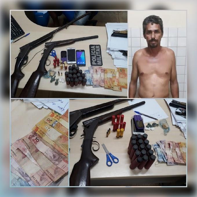 PM prende homem acusado de tráfico de drogas no município de Trairão.