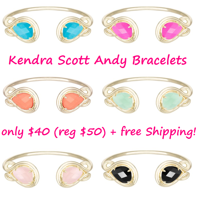Kendra Scott Andy Bracelet for only $40 (reg $50) + free shipping