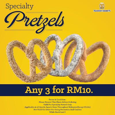 Auntie Anne's Malaysia Pretzel Discount Promo