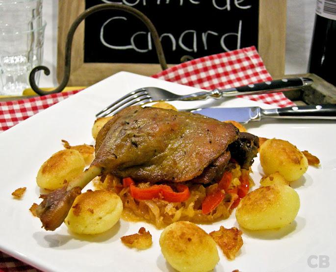 Recept Zelfgemaakte confit de canard, gekonfijte eendenbouten