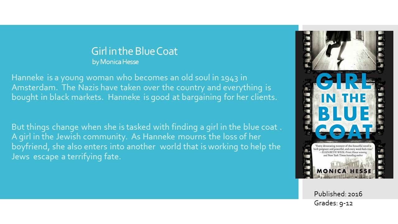 fb4f3b628a6c Young Adult Reading Machine  The Girl in the Blue Coat by Monica Hesse