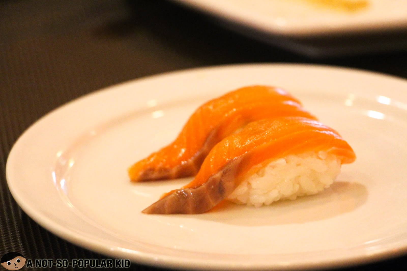 Eat-All-You-Want Salmon Sushi in Genji-M