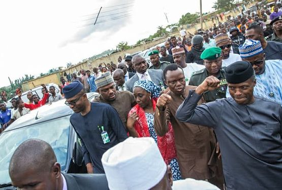 Excitement As Acting Pres. Osinbajo Visits Abuja Market