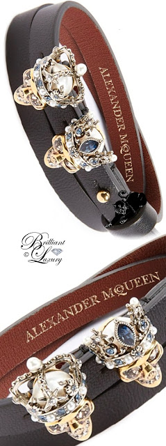 Brilliant Luxury ♦ Alexander McQueen King & Queen Wrap Bracelet
