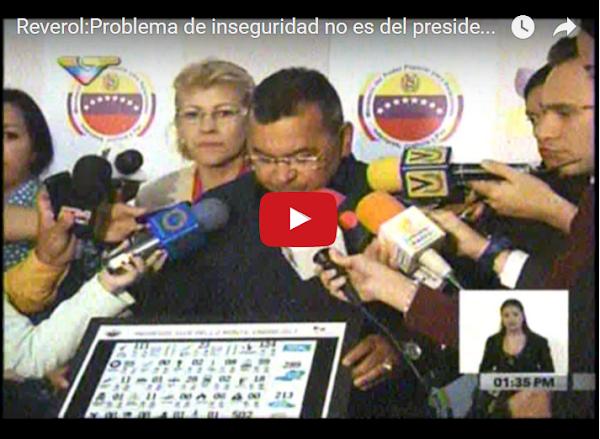 Nestor Reverol asegura que criminalidad no es su problema