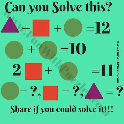 Math Fun Shapes Equations