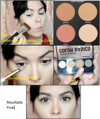 Paso 3: sellar con maquillaje