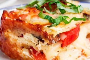 Caprese Chicken Lasagna