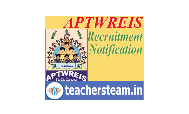 APTWREIS Recruitment Notification for the post of JL PGT TGT PET