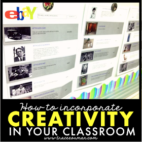 How to incorporate creativity in your classroom - traceeorman.com