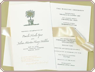 Gold Royal Wedding Programs