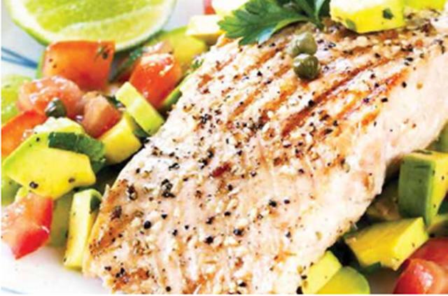 peixes e legumes