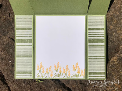 Andrea Sargent, Independent Stampin Up Demonstrator, South Australia, Happy Tails, Peaceful Place, Watercolour, fancy fold