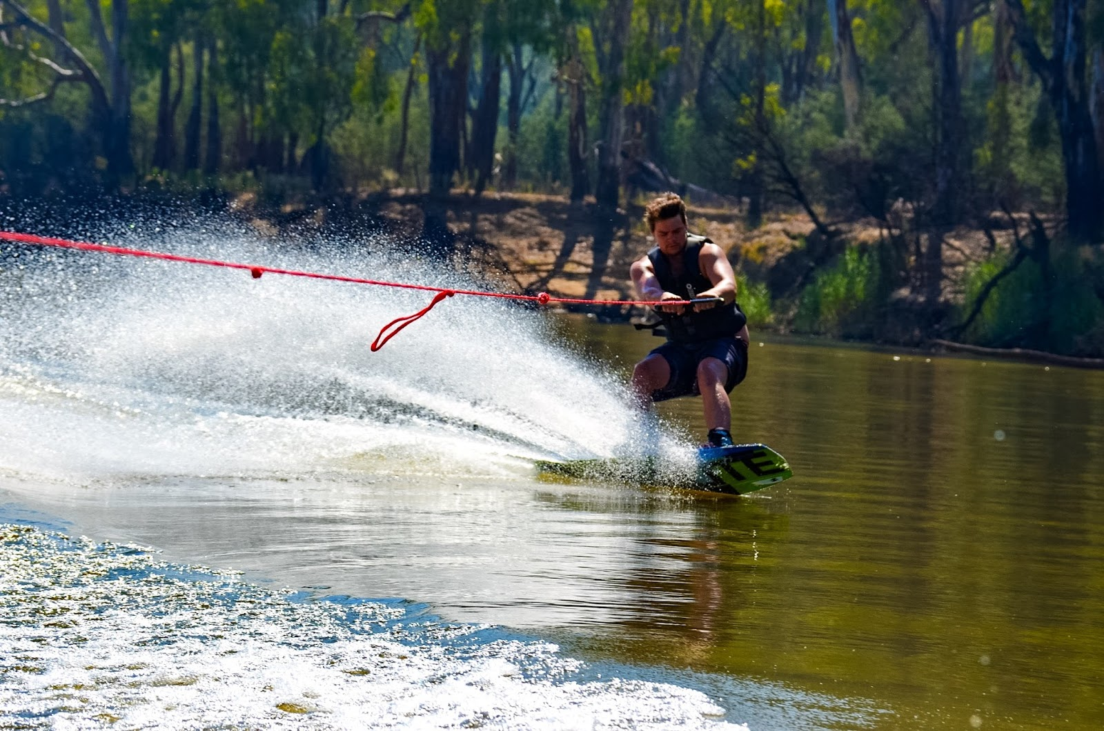 wake boarding on the murray river