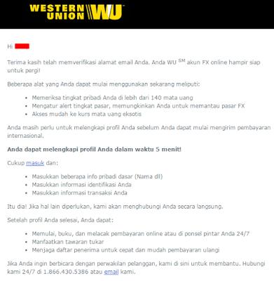 Cara membuat akun Western Union