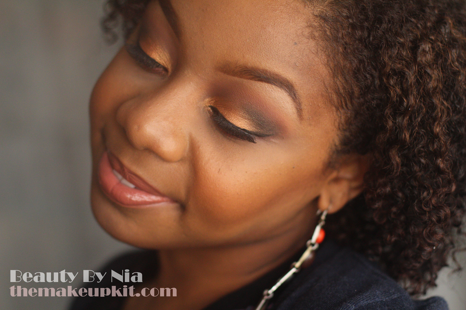 Burnt Orange Smokey Eye MakeUp Look 5