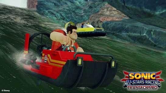 Detona Ralph no Sonic & All-Stars Racing Transformed