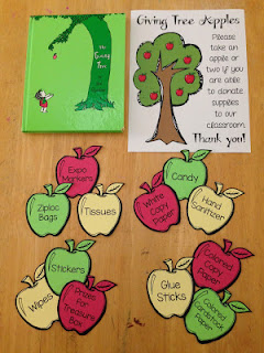 Set up a giving tree at Open House so parents can donate supplies to your classroom.