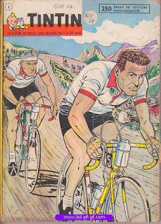Tintin recueil souple, numéro 4, année 1961, à restaurer
