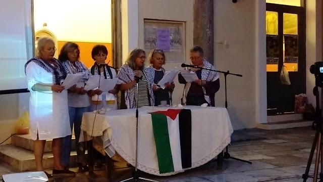 Πικετοφορία αλληλεγγύης στον Παλαιστινιακό λαό από τις ομάδες γυναικών σε Άργος και Ναύπλιο (βίντεο)