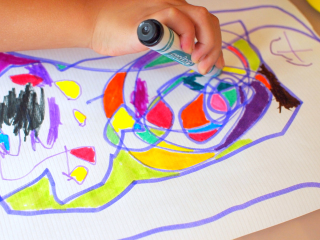 easy preschool marker scribble artwork