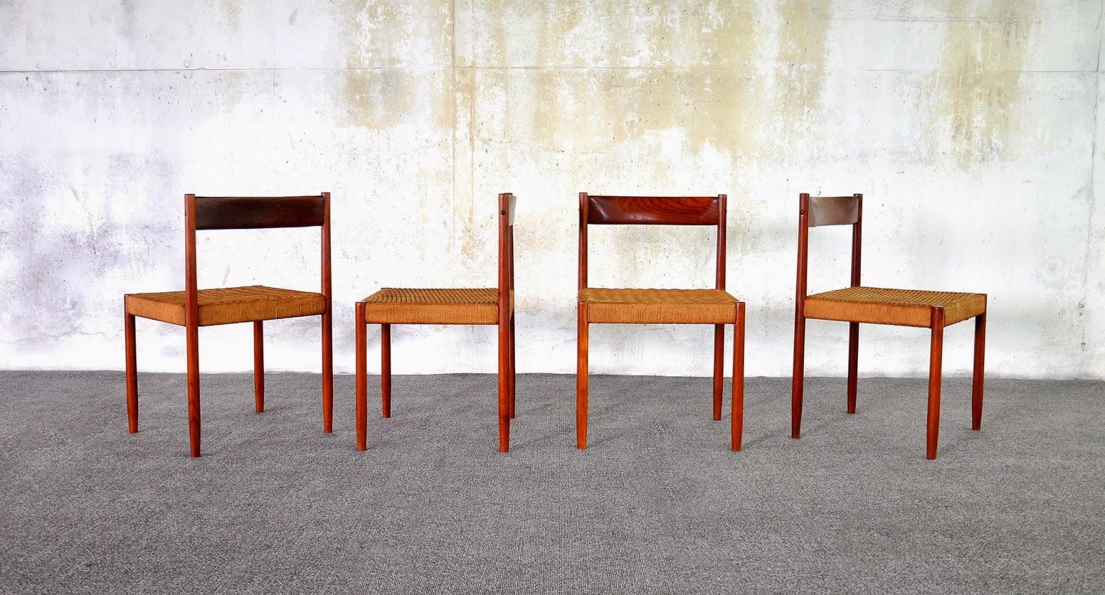 Select modern danish modern teak dining chairs for Danish modern dining chairs