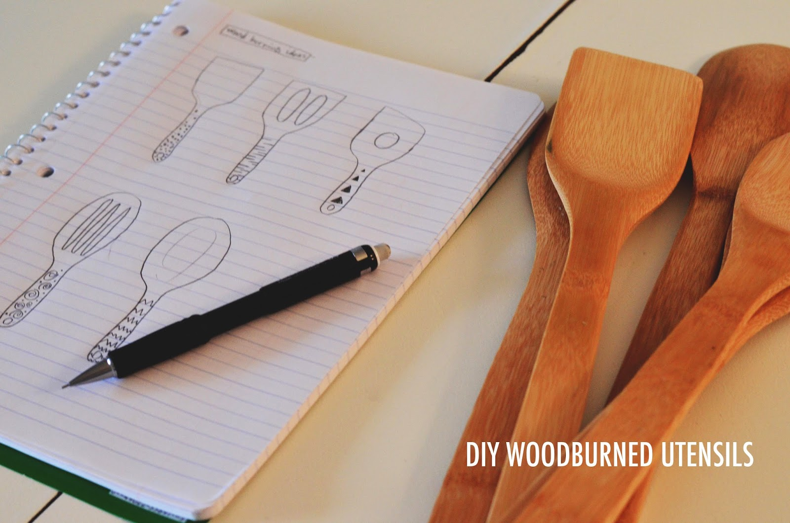 Oh My Heart Diy Wood Burning Kitchen Utensils
