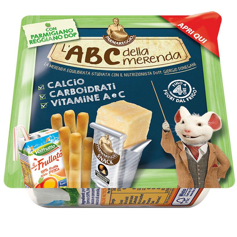 L'ABC della merenda Parmareggio Kit zaino