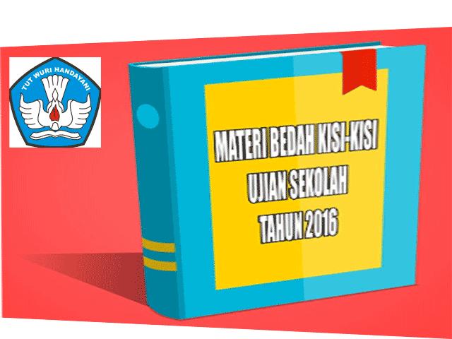 Download Kisi Kisi Ujian Sekolah 2016
