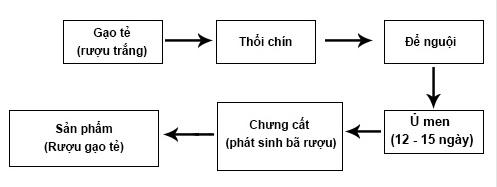 Quy trình nấu rượu gạo quê truyền thống Hải Hậu