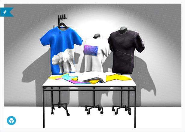 T-Shirt Mock-Up 3D Model