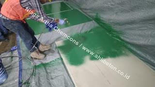 epoxy lantai dengan mesin spray