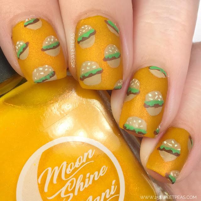 Cheeseburger Nail Art