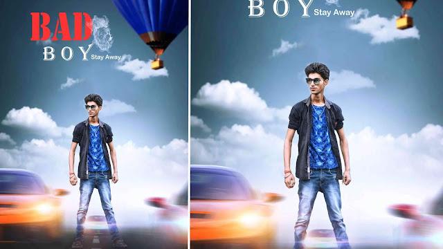 Picsart Bad Boy Photo Editing Like Action Movie Poster