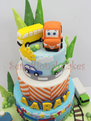 The Sensational Cakes Perfect Art Cars Theme 3d Cake