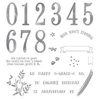 Number of Years stamp set from Stampin' Up!