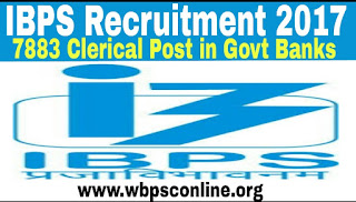 IBPS Recruitment 2017 - Apply Online for 7883 Clerical Jobs in Govt Banks - image IBPS%2BClerical%2BJobs%2Bin%2BGovt%2BBanks on http://wbpsconline.org