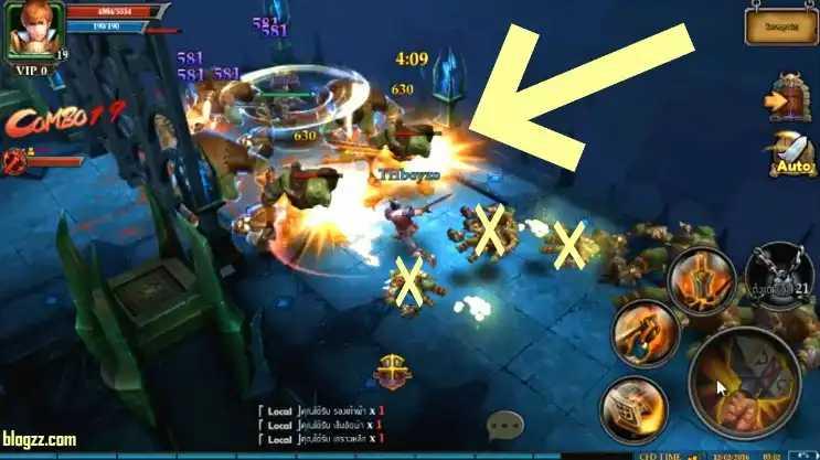 Clash for Dawn'da zindanlara girmek oyunda daha hızlı yükselmenizi sağlayacaktır.