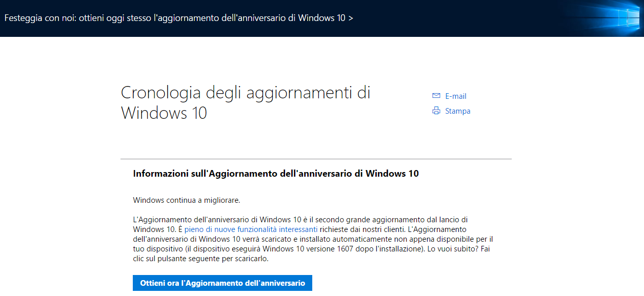 e installare windows 10 creators update con assistente aggiornamento