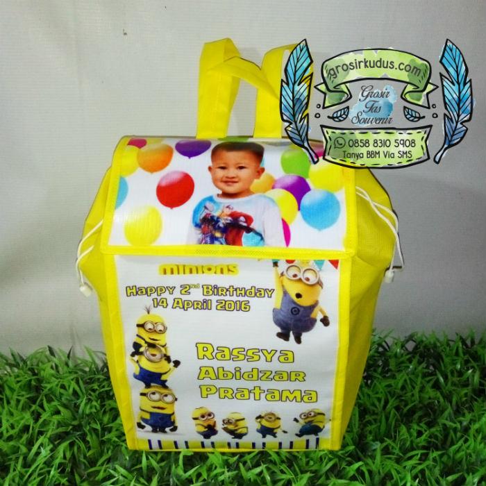 Tas ulang tahun minion mini ransel gendong murah jakarta